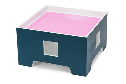 The Pink Candy Ice Accent Table Also Has A Magic Sunken Top That Safely  Stores All Your Stuff That Rolls. Want To Know The Best Part?