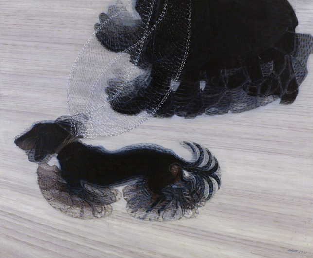 """""""Dynamism of a Dog on a Leash"""" painting by Balla, 1912"""