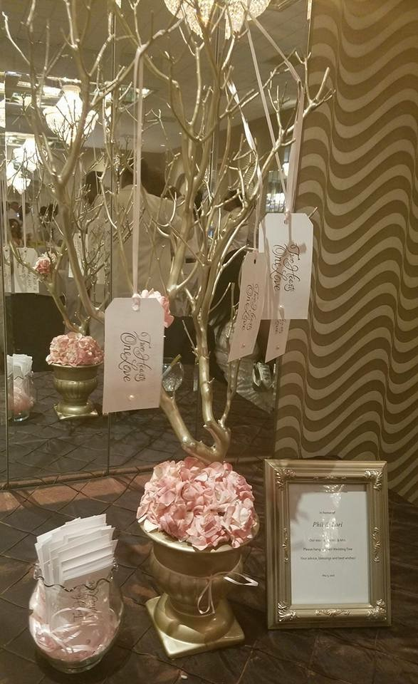 Gold and Pink Wish Tree