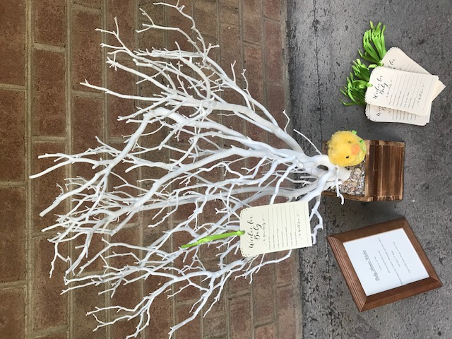 white branch baby shower tree