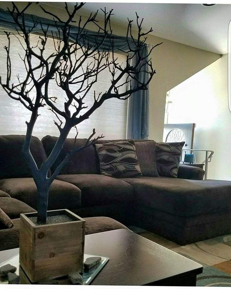 blue tree with natural base