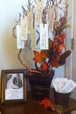 Fall themed wish tree