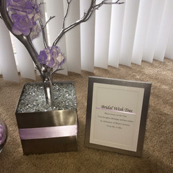 Silver & Lavender wish Tree