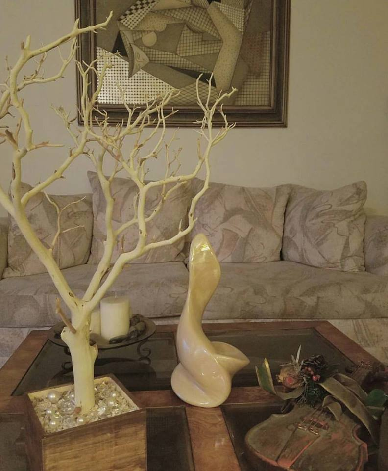 sandblasted tree with natural base