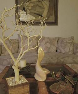 sandblasted tree with natural base