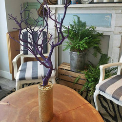 purple tree with gold base