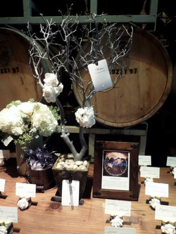 Grey winery themed wish tree