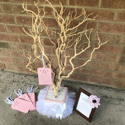 Natural ballerina baby shower tree