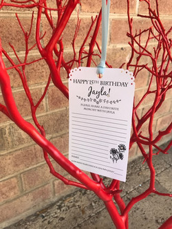 15th (Quince) Birthday Wish Tree