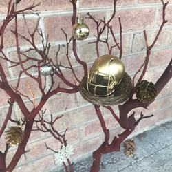 Eagles holiday tree accent