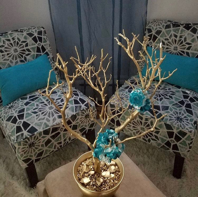 dining room centerpiece tree