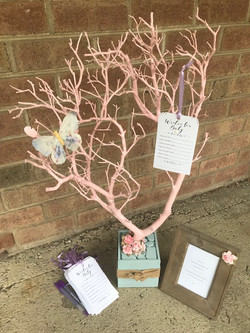 spring themed baby shower tree