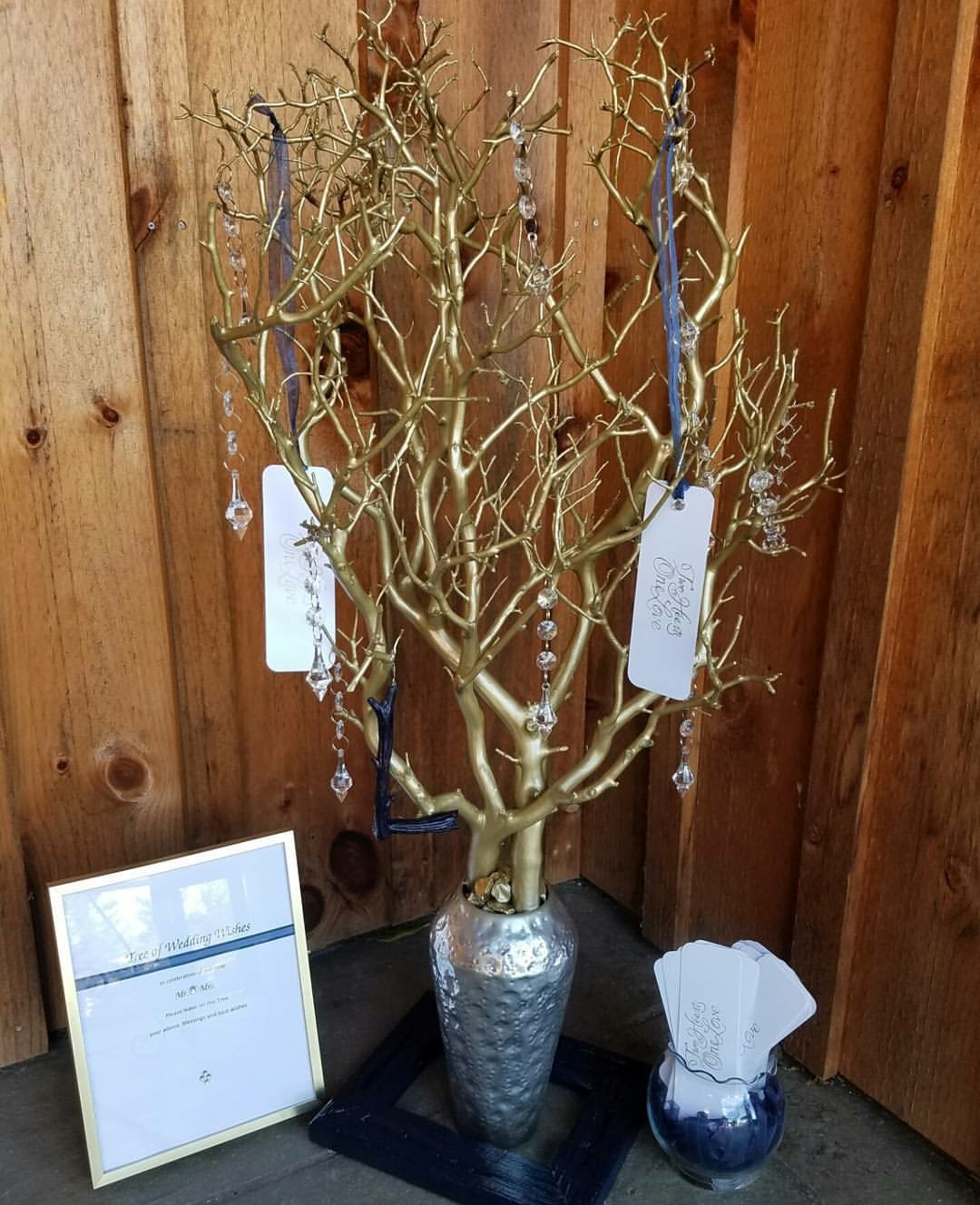 Gold, Silver and Navy Wish Tree