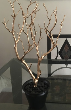 gold mini dining room table tree