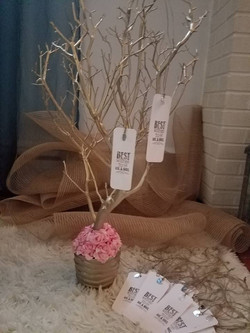 Gold Wedding Wish Tree