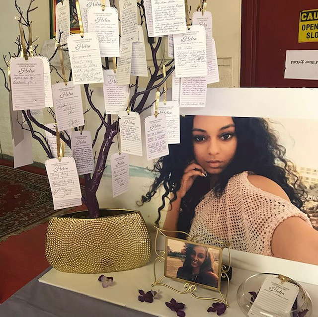 purple and gold memory tree