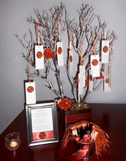 Rustic Orange Wish Tree