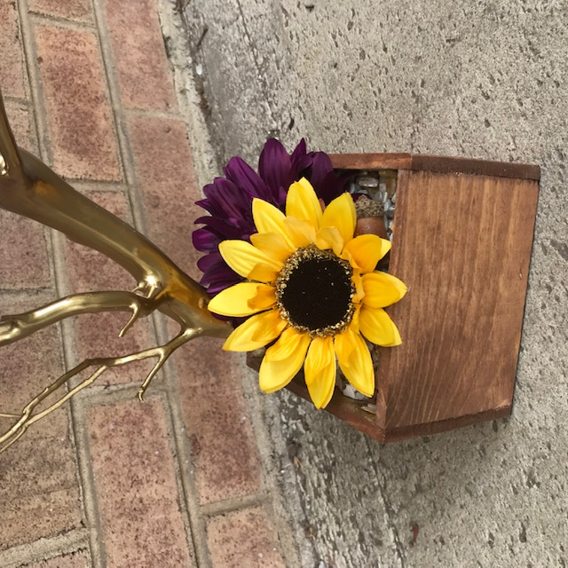 purple and sunflower memory tree