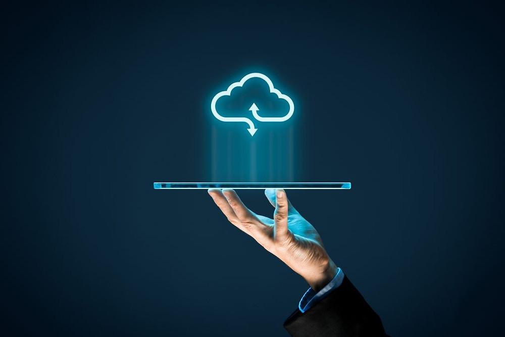 imagem representando o armazenamento em nuvem