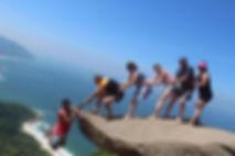 Tour na Pedra do Telégrafo com os Paragu