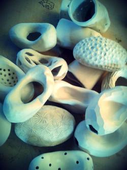 Probando texturas en porcelana