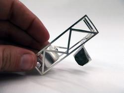 Magnetita, cadena de plata