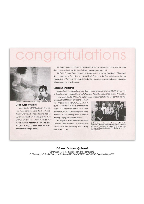 Ericsson Scholarship Award