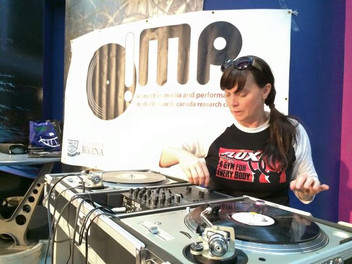 Dr Marsh spinning at the Science Centre