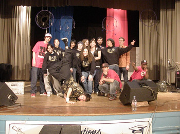 Scott Collegiate Hip Hop Project V2 students