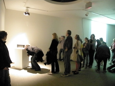 """Little Red"" Curator, Producer, Artist. Interactive Media Performance at the MacKenzie Art Gallery in March 2009."