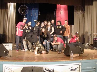 Scott Collegiate Hip Hop Project V2 students