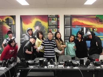 Scott Collegiate Hip Hop Project V3 students
