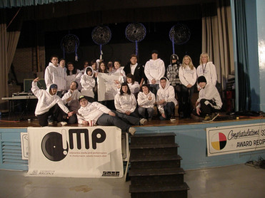 Scott Collegiate Hip Hop Project V4 students