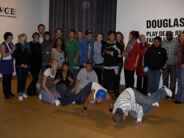 Scott Collegiate Hip Hop Project V1 students
