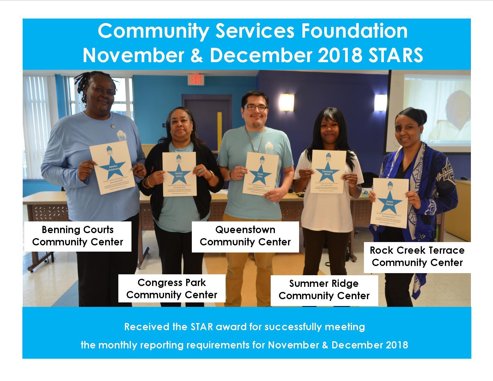 November and December 2018 Star