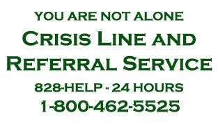 Crisis Line and Referral Service Card