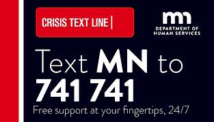 Crisis Text Line Card