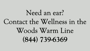 Wellness in the Woods Warm Line Card