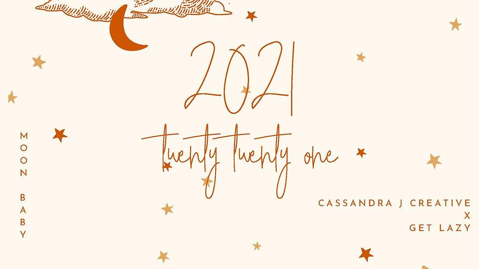 Moon Baby 1.0 2021 Lunar Calendar (Northern Hemisphere)