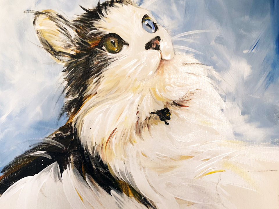 ACRYLIC PAINTING OF LUCKY