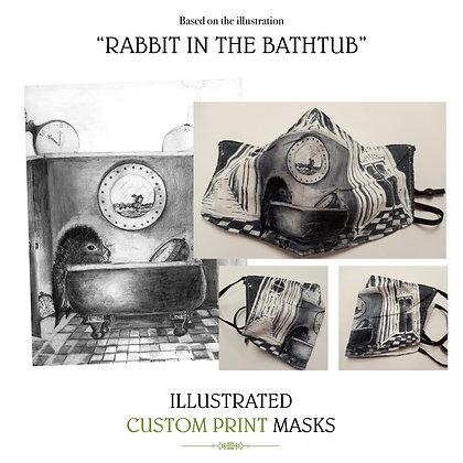 Rabbit In The Bathtub Custom Mask