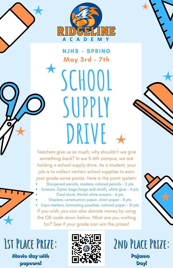 NJHS - School Supply Drive Flyer 1A (1)