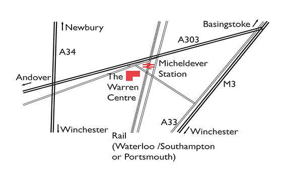 map of The Warren Centre