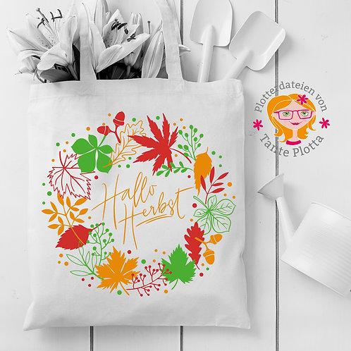 """Plotterdatei """"Herbstkranz & Blätter"""""""