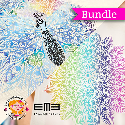 "Plotterdatei ""Pfau + Mandala"" BUNDLE!"
