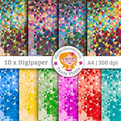 "Digipaper ""Triangle"" 10 Varianten"