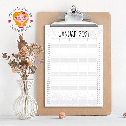 """Datei zum Ausdrucken """"2021 Familienplaner für 5"""""""