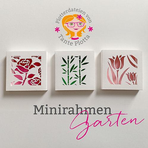 "Plotterdatei 3 Minirahmen ""Garten"""