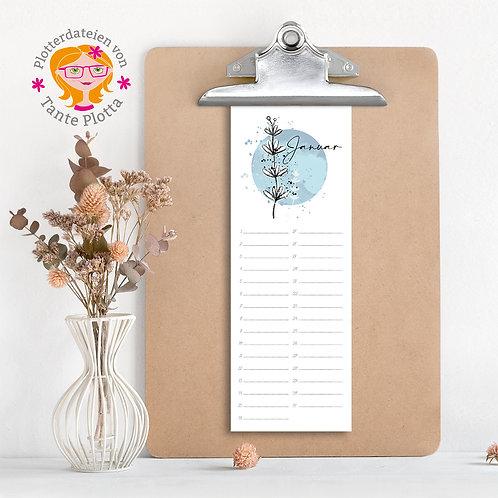 """Datei zum Ausdrucken """"Geburtstagskalender hochkant"""""""