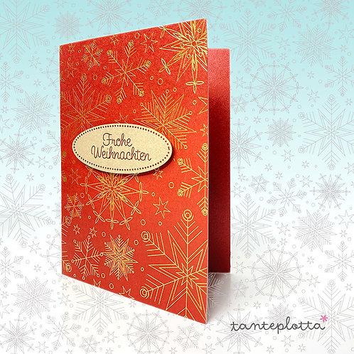 """Foilquilldatei Weihnachtskarte """"Kristalle inkl. Geschenkpapier"""""""